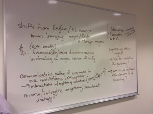 Recruiting Majors topics on whiteboard 2