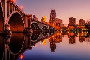 View of 3rd ave bridge with downtown Minneapolis in the back drop. Photo by Riddhish Chakraborty, courtesy of Explore Minnesota.